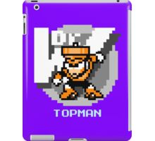 Top Man with Ice Blue Text iPad Case/Skin