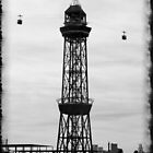 Cable Cars Over The Harbour - Barcelona by rsangsterkelly