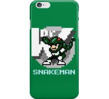 Snake Man with Text iPhone Case/Skin