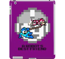 Rush dragging Megaman (Black Text) iPad Case/Skin