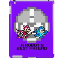 Megaman walking Rush (Black Text) iPad Case/Skin