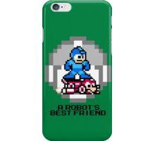 Megaman Riding Jet Rush (Black Text) iPhone Case/Skin