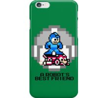 Megaman Riding Jet Rush (Black Text) iPhone Case/Skin