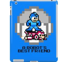 Megaman Riding Jet Rush (Black Text) iPad Case/Skin