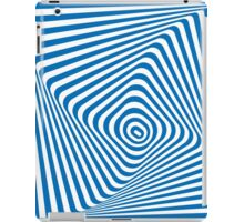 vector blue and white abstract illusion background iPad Case/Skin