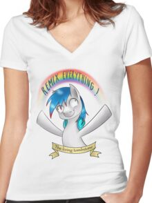 Remix Everything ! Women's Fitted V-Neck T-Shirt