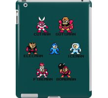 Megaman Who will you fight (black text) iPad Case/Skin