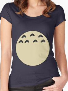 My Totoro belly Women's Fitted Scoop T-Shirt