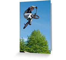 BMX Bike Stunt Greeting Card