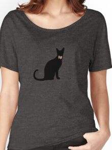 cool cat in a tux Women's Relaxed Fit T-Shirt