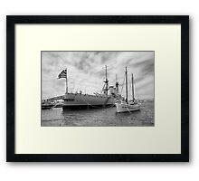 Battleship Averof Framed Print