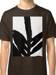 Green Fern Black and White Classic T-Shirt