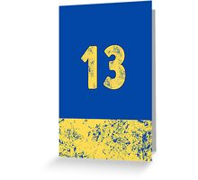 Vault 13 - Classic Blue Greeting Card