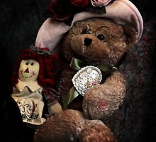 BFFs: Teddy Bear and Raggedy Ann by Corri Gryting Gutzman
