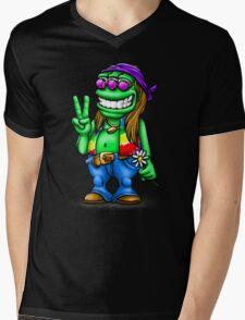 Alien Hippie Mens V-Neck T-Shirt