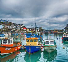 Mevagissy Harbour by Chris Thaxter