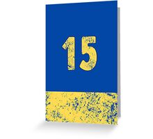 Vault 15 - Classic Blue Greeting Card