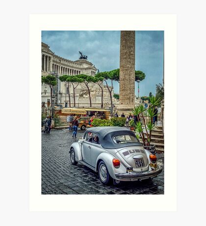 Rome: let's do Europe in a VW Beatle Art Print