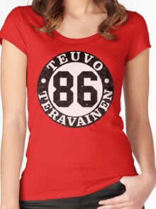 Teuvo Number  Women's Fitted Scoop T-Shirt