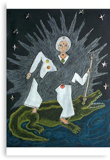 Goddess Akhilandeshvari by Paola Suarez
