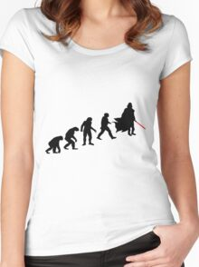 darth vader evolution Women's Fitted Scoop T-Shirt