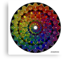 Mandala 46 T-Shirts, Hoodies and Stickers and cases - Jim Gogarty Canvas Print