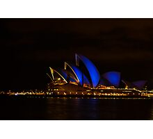 Blues at the Opera House Photographic Print