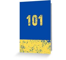 Vault 101 - Classic Blue Greeting Card