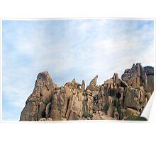 joshua tree rockface Poster