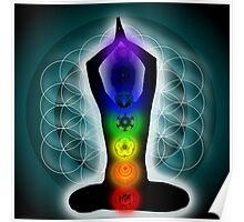 Vibratory Beings Mandala Poster