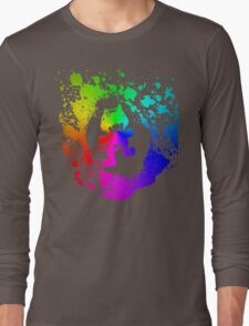 Colourful feline.  Long Sleeve T-Shirt