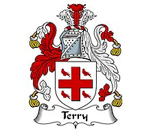 Terry Coat of Arms / Terry Family Crest Photographic Print