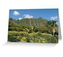 Koolau Mountain Range Greeting Card
