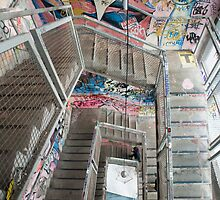 Interior staircase grafitti Kunsthaus Tacheles by photoeverywhere
