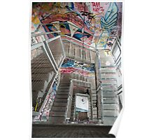 Interior staircase grafitti Kunsthaus Tacheles Poster