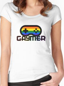 Rainbow Gamer Gaymer Women's Fitted Scoop T-Shirt