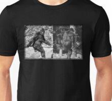 Patty Front and Back - Black and White Unisex T-Shirt