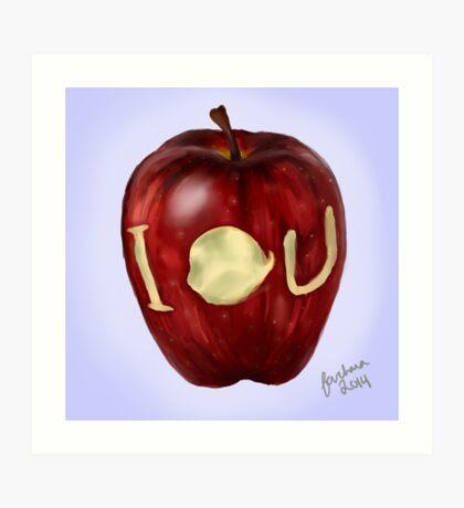 Moriarty IOU apple- BBC Sherlock Art Print