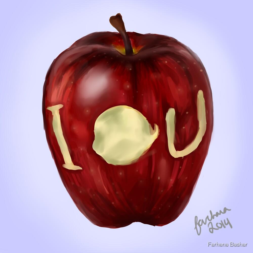 Moriarty IOU apple- BBC Sherlock by Farhana Bashar