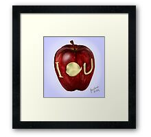 Moriarty IOU apple- BBC Sherlock Framed Print