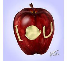 Moriarty IOU apple- BBC Sherlock Photographic Print