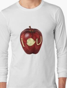 Moriarty IOU apple- BBC Sherlock Long Sleeve T-Shirt