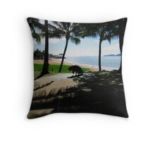 From the Shade A Dugong, Palms, Townsville  Far Nth. Qld. Throw Pillow