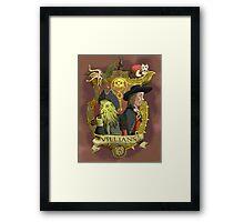 Villains- Pirates of The Caribbean Framed Print