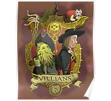 Villains- Pirates of The Caribbean Poster