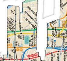 NYC Subway map NYC CIty Skyline Sticker