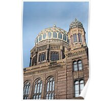 Exterior of the New Synagogue, Berlin Poster