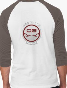 Obstinate Gaming (White Text) Men's Baseball ¾ T-Shirt