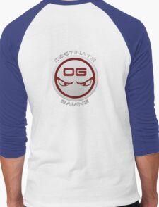 Obstinate Gaming (White Text) Men's Baseball ¾ T-Shirt