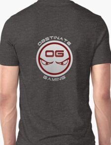 Obstinate Gaming (White Text) Unisex T-Shirt